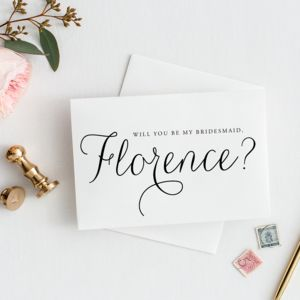 'Will You Be My Bridesmaid' Card - thank you cards