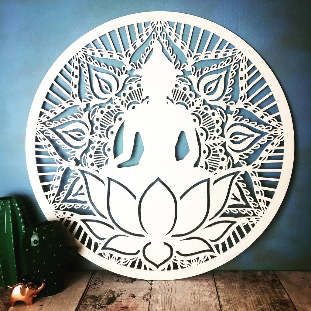 Buddha lotus flower wall mandala by floppsie moppsie buddha lotus flower wall mandala mightylinksfo Image collections