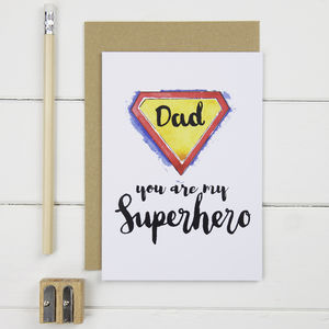 Dad Superhero Card - father's day cards