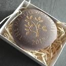 Personalised Golden Engraved Family Members Stone