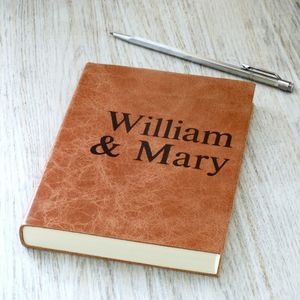 Luxury Leather Notebook For Couples