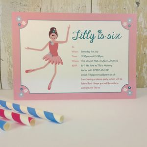 16 Ballerina Party Invitations Or Thank You Cards