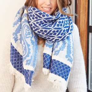 Personalised Bold Woven Paisley Scarf - gifts for her