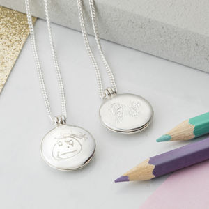 Personalised Childs Drawing Locket - personalised gifts