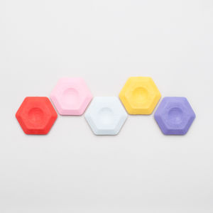 Colourful Hexagon Eraser - rulers, erasers & sharpeners