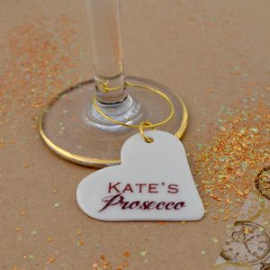Prosecco Personalised Glass Charm - glass charms