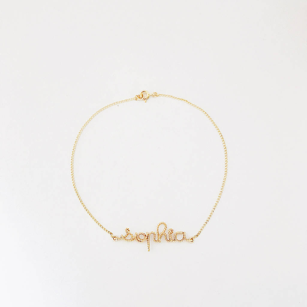 Personalised 14k Gold Filled Bracelet
