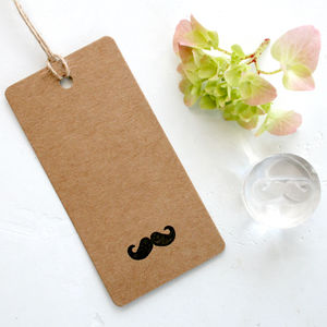Moustache Clear Rubber Stamp