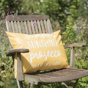 Personalised Summer Favourites Outdoor Cushion - living room