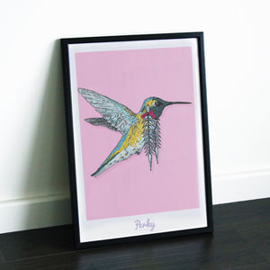 Hummingbird Art Print - baby's room