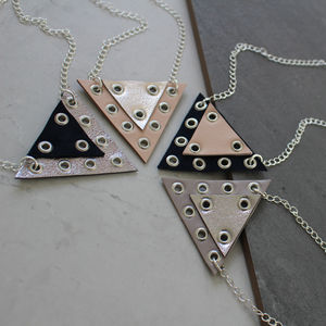 Prism Geometric Eyelet Necklace - necklaces & pendants