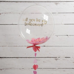 Personalised 'Will You Be My Bridesmaid?' Balloon - room decorations