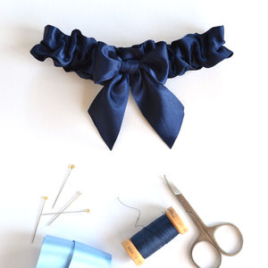 Handmade Something Blue Garter - wedding fashion