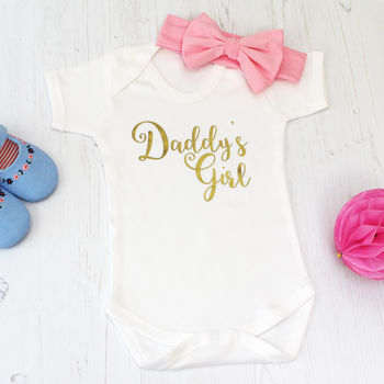 Daddy's Girl My First Father's Day Baby Grow