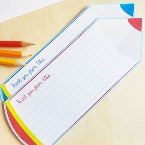 12 Personalised Pencil Shaped Notecards