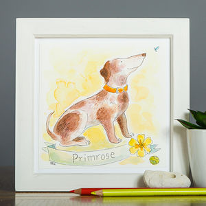 Personalised Pet Portrait Watercolour Illustration - posters & prints