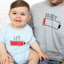 Daddy And Baby Recharge Battery T Shirt Set