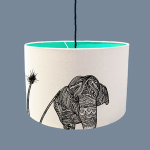 Elephant Lampshade With A Range Of Colour Linings