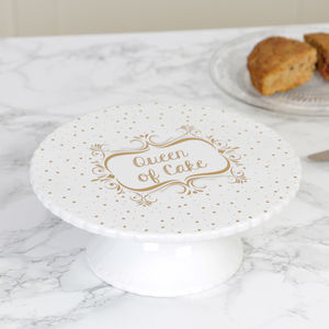 Queen Of Cake Ceramic Dessert Stand - cake stands