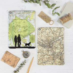 Personalised Map iPad Case - gifts for grandmothers