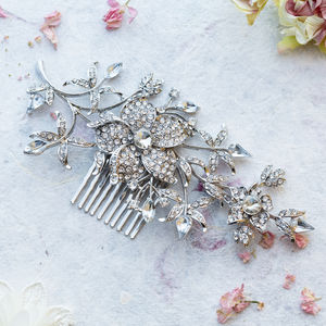 Edith Crystal Hair Comb