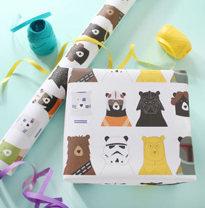 Bear Wars, Wrapping Paper - wrapping paper