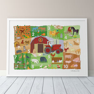 Farmyard Counting Fine Art Print