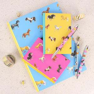 Horses Assorted Notebooks And Pens Gift Bundle - summer sale