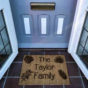 Botanical Themed Personalised Doormat