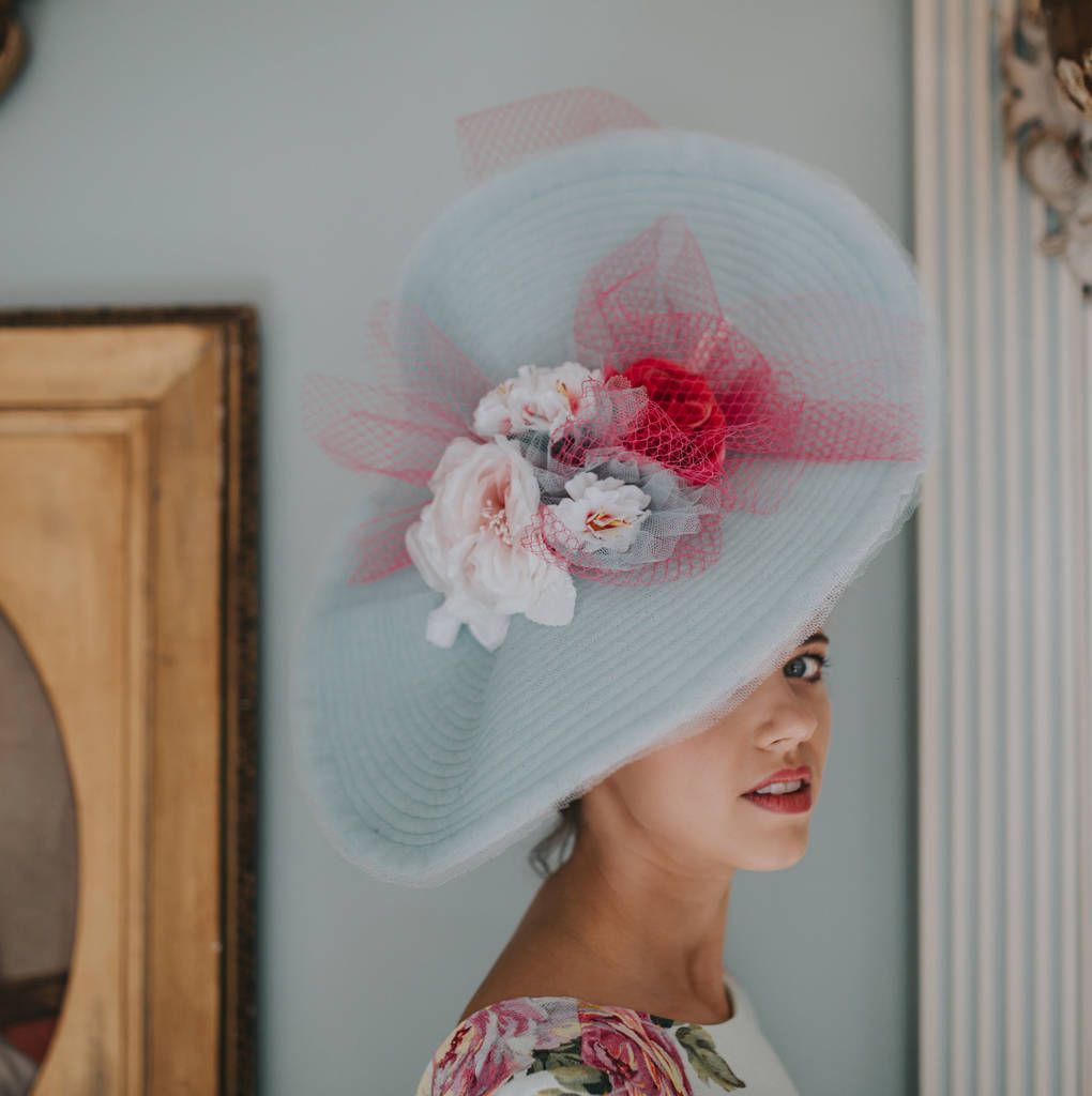 Large Wedding And Races Hat 'Madame Butterfly'