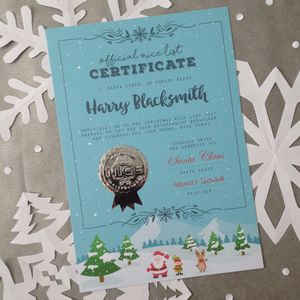 North Pole Christmas Eve Santa 'Nice' List Certificate