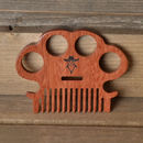 Wooden Beard And Hair Comb
