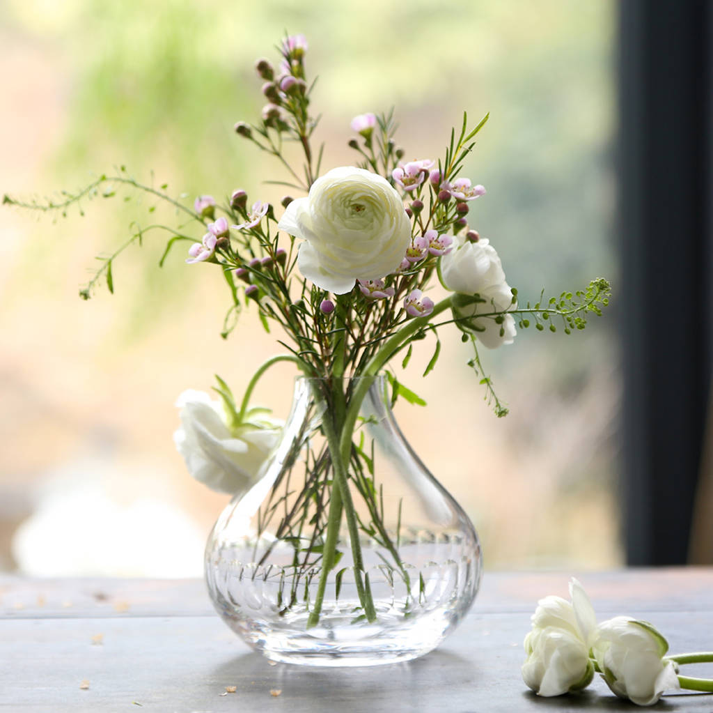 Lens Design Small Crystal Vase By The Vintage List Notonthehighstreet Com