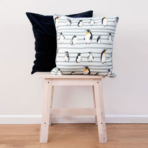 Penguin Waddle Cotton Cushion