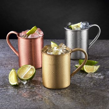 Copper, Gold And Silver Moscow Mule Mugs