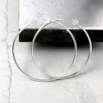 Solid Silver Hoop Earrings