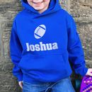 Children's Personalised Rugby Hoodie