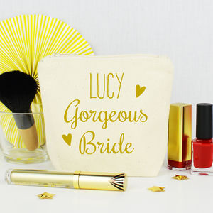 Personalised 'Bride' Make Up Purse