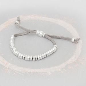 Harper Personalised Suede Bead Bracelet - gifts for grandparents