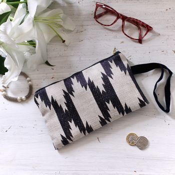 Tribal Jaquard Clutch Bag