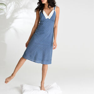 Lacey Nightie In Blue Circle Print
