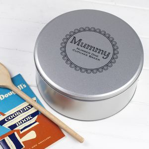 Personalised Cake Tin - gifts for grandmothers