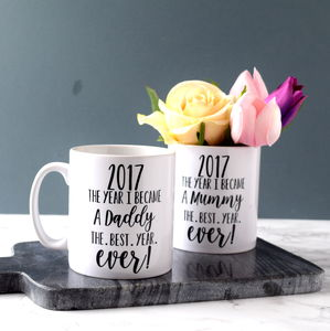 Personalised The Year I Became A Daddy Or Mummy Mug
