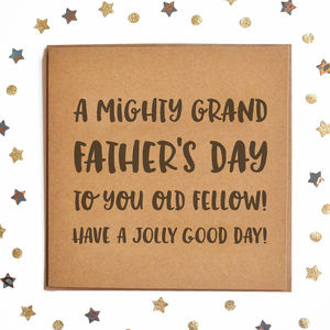 A Mighty Grand Father's Day Square Card