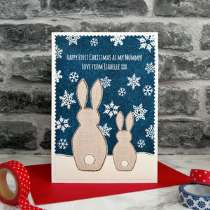 'First Christmas As My Mummy / Nanny' Christmas Card - cards