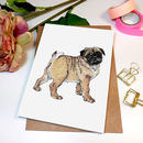 'Patty The Pug' Greeting Card