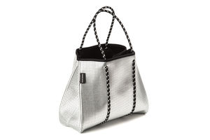 Metallic Neoprene Tote Bag - shoulder bags