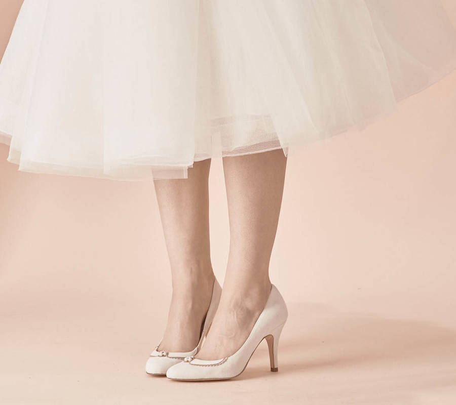 Catherine Suede Wedding Shoes By Rachel Simpson