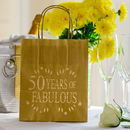 50 Years Of Fabulous Birthday Party Lantern Bag