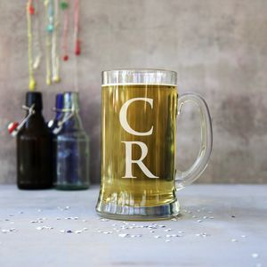 Personalised Monogram Giant Two Pint Stein Tankard - glassware